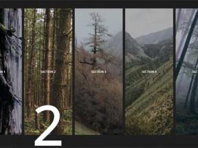 css3全屏手风琴图片滑动展示