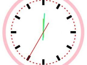 html5 canvas画布绘制圆形时钟代码