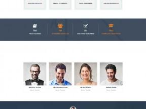 橙色宽屏的网络课程教育学校网站模板