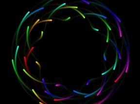 html5 canvas彩色圆环形轨迹线条动画特效