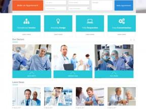 蓝色的国外私立医院网站模板html源码