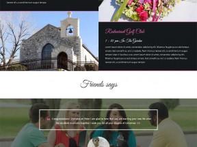 简洁宽屏的国外婚纱摄影网站静态模板