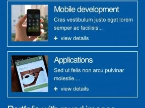 蓝色的手机wap企业网站单页模板源码下载