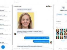 web聊天应用程序UI模板