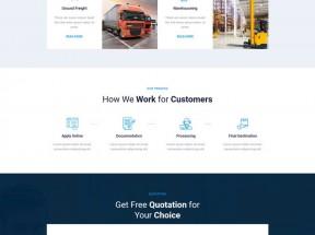 物流快递服务企业网站HTML模板