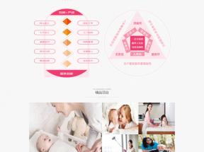 红色简单的家政服务公司网站模板