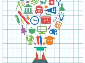 彩色创意的教育学习文具工具图标大全素材下载