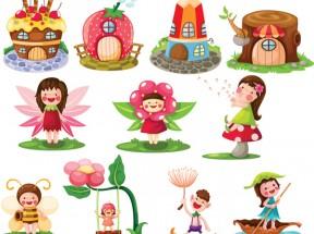 可爱卡通儿童插画图片素材下载