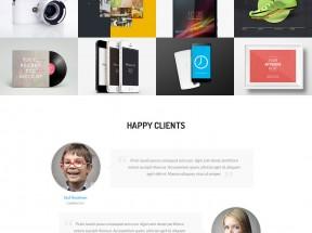 html5网络设计公司作品展示单页模板