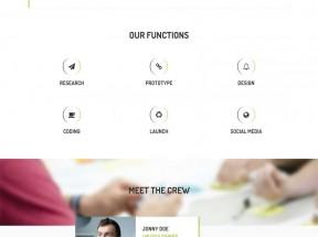简洁大气的html5响应式商务企业展示单页模板下载