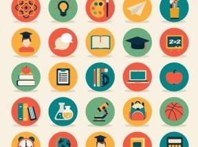 彩色扁平的圆形icon设计图标素材下载