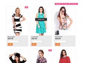 国外bootstrap响应式时尚服装购物商城模板下载