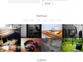 红色扁平风格的商务公司团队介绍html5动画模板