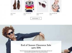 多功能的服装销售电商HTML模板