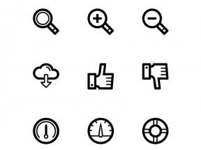 黑色简单的功能图标AI素材下载
