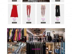 简洁的时尚服装购物网站html5响应式商城模板
