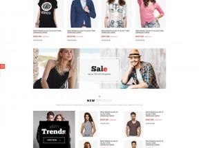 大气的品牌服装商城网站bootstrap模板
