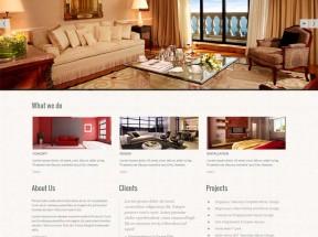 黑色宽屏的室内家具装饰公司网站静态模板