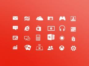 白色Win8系统风格的应用图标素材下载