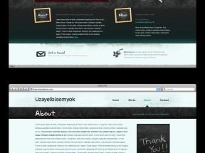 简单的欧美风格个人网页模板下载