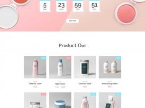 化妆品美容店铺网站模板