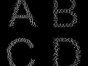 html5 canvas英文字母动画特效