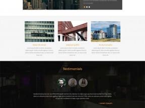 大气的城市规划建设网站模板下载