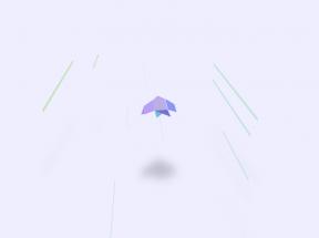 纯css3 3D折纸鸟飞行动画场景代码