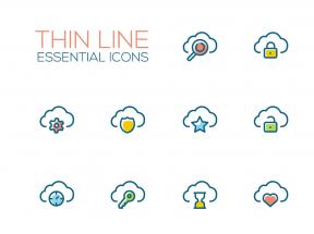 创意的云端存储图标素材