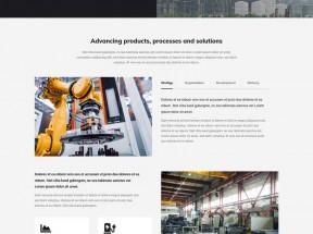 简洁的重工业官网html模板