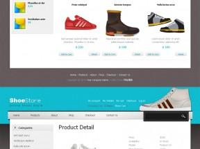 国外简洁的电子商务网上买鞋子商城网站模板html全站下载