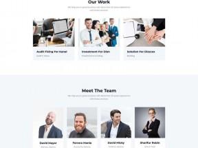 蓝色的商业服务企业网站UI模板