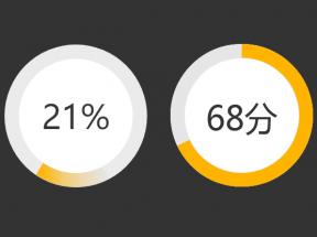 html5 css3圆形百分比加载动画特效