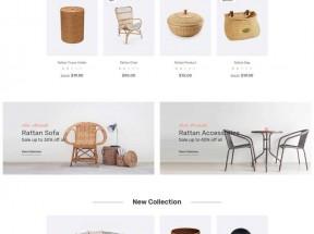 简洁的手工编织商品展示网站模板