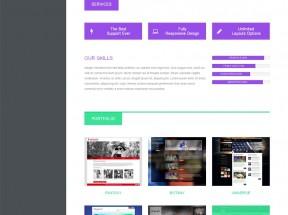扁平风格的html5响应式个人博客作品展示单页网站模板下载