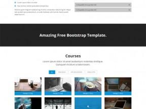 蓝色简洁的响应式设计公司前端html5模板