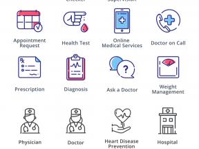 创意的医疗护理图标集png下载