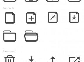 黑色的手机app界面线框图标工具包素材psd下载