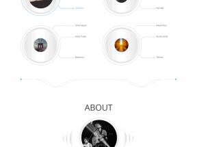 bootstrap响应式音乐主题网站单页模板下载