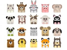 精美可爱呆萌动物表情图标素材大全