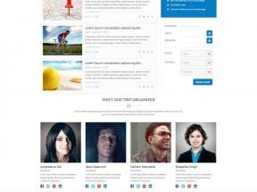 蓝色的网上预订旅游网站模板html整站