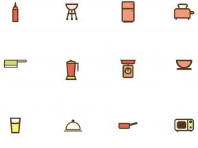 矢量的厨房烹饪图标AI素材