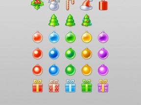 漂亮的圣诞节主题图标png素材下载
