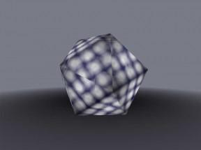 3D二十面体旋转动画特效
