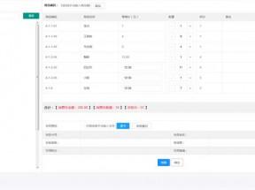 layui制作收银台购物车结算后台页面模板