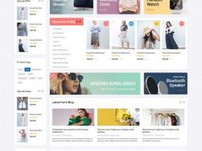 大型的综合销售商城网站Bootstrap模板
