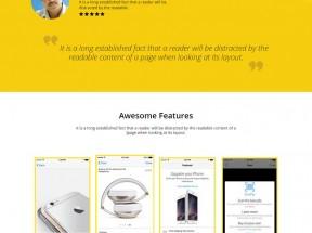 黄色苹果手机软件app介绍单页模板