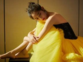 陈钰琪写真 黄色裙子 4k美女壁纸