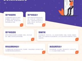 创意的产品服务文字列表ui布局