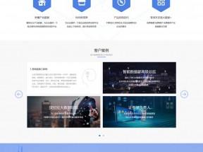 大数据软件科技企业主页模板
